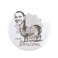 "Cool Obama Llama 3.5"" Button"