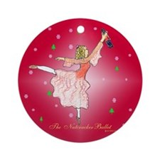 Clara and her nutcracker gift Ornament (Round)