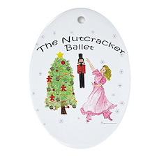 Nutcracker Christmas Oval Ornament