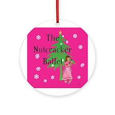 Clara, Nutcracker ballet Ornament (Round)