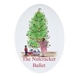 Clara n Nutcracker Ballet Oval Ornament