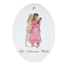 The nutcracker ballet Oval Ornament