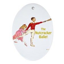 Clara & Nutcracker Oval Ornament