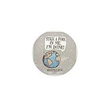 Stick A Fork Earth Mini Button (10 pack)