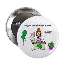 Social Work Month Desk2 Buttons (10 pack)