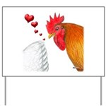 Valentine Rooster in Love Yard Sign