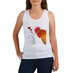 Valentine Rooster in Love Women's Tank Top