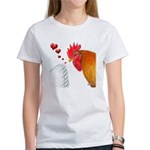 Valentine Rooster in Love Women's T-Shirt