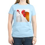 Valentine Rooster in Love Women's Light T-Shirt
