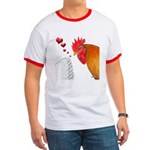 Valentine Rooster in Love Ringer T