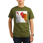 Valentine Rooster in Love Organic Men's T-Shirt (d