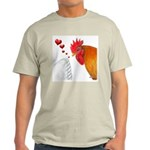 Valentine Rooster in Love Light T-Shirt