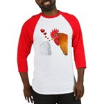 Valentine Rooster in Love Baseball Jersey