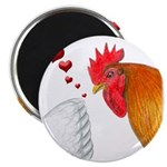 "Valentine Rooster in Love 2.25"" Magnet (100 p"