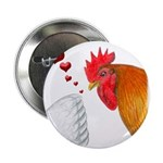 "Valentine Rooster in Love 2.25"" Button (10 pa"
