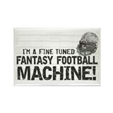 Fantasy Football Machine Rectangle Magnet