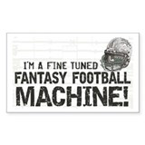 Fantasy Football Machine Rectangle Decal