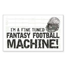 Fantasy Football Machine Rectangle Decal