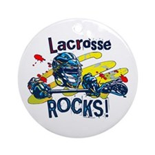 Lacrosse Rocks Ornament (Round)
