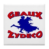 Zydeco Dancer Tile Coaster