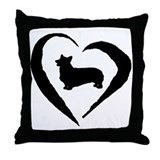 Pembroke Heart Throw Pillow