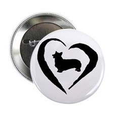 "Pembroke Heart 2.25"" Button (10 pack)"