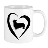 Pembroke Heart Small Mug