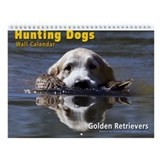 Hunting Golden Retrievers Wall Calendar