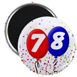 "78th Birthday 2.25"" Magnet (100 pack)"