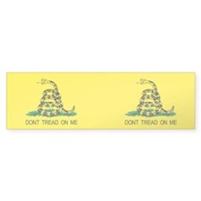 Pair of Tea Party Gadsden flag! Patriotic Bumper Sticker