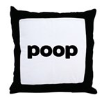 Poop Throw Pillow