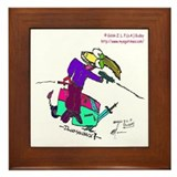 Duckmaniac by Gölök Buday Framed Tile