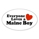 Maine Boy Oval Decal