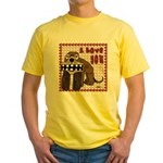 Valentine Dog Yellow T-Shirt