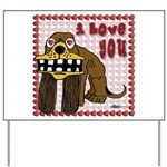 Valentine Dog Yard Sign