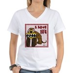 Valentine Dog Women's V-Neck T-Shirt