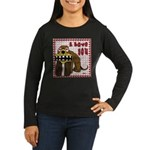 Valentine Dog Women's Long Sleeve Dark T-Shirt