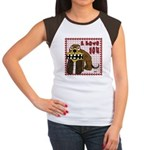 Valentine Dog Women's Cap Sleeve T-Shirt