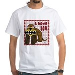 Valentine Dog White T-Shirt