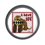 Valentine Dog Wall Clock