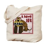 Valentine Dog Tote Bag