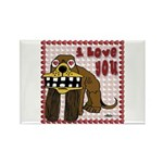 Valentine Dog Rectangle Magnet