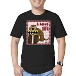 Valentine Dog Men's Fitted T-Shirt (dark)