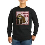 Valentine Dog Long Sleeve Dark T-Shirt