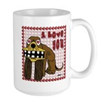 Valentine Dog Large Mug