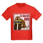 Valentine Dog Kids Dark T-Shirt