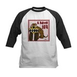 Valentine Dog Kids Baseball Jersey