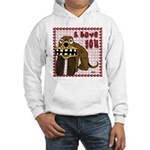 Valentine Dog Hooded Sweatshirt
