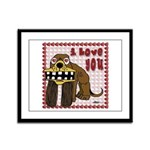 Valentine Dog Framed Panel Print