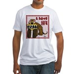 Valentine Dog Fitted T-Shirt